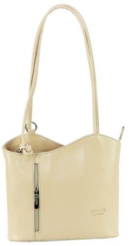 In pelle italiana, borsetta, borsa o zaino.Versioni di medie e grandi dimensioni.Include una custodia protettiva marca. Bianco (crema)