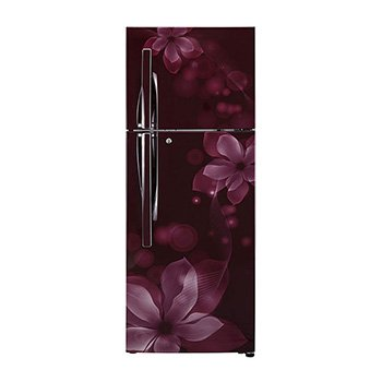 LG 260 L 3 Star Frost-Free Double Door Refrigerator (GL-I292RSOY, Scarlet Orchid)