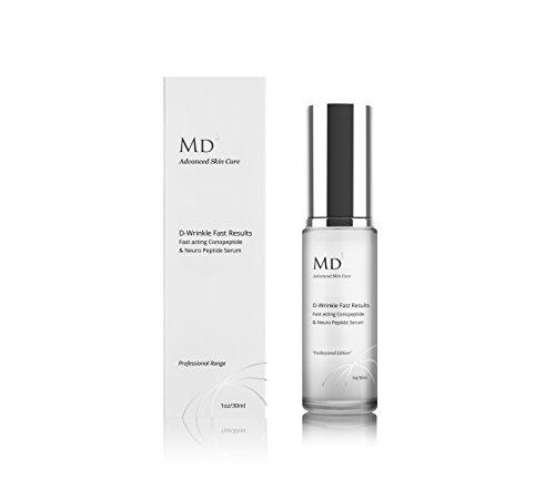 MD3 Anti Aging D-Falten Multi-Peptid-Creme | 30ml | Hochfest | Für faltenfreie, hydratisierte und glatte Haut und Gesicht | Natürliches...