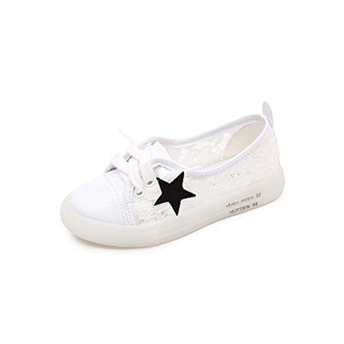 Terry King Mädchen Schuhe Mesh Breathable Canvas Kinderschuhe Prinzessin Casual Schuhe Little Girl Wild White Schuhe,White,Eu34uk2child