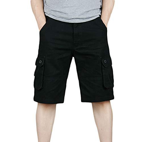 VECDY Herren Hosen Mode Shorts Soft Baumwolle Multi-Pocket Overalls Shorts Mode Hose Sports Shorts Strandhosen Lässige Hosen 30-46