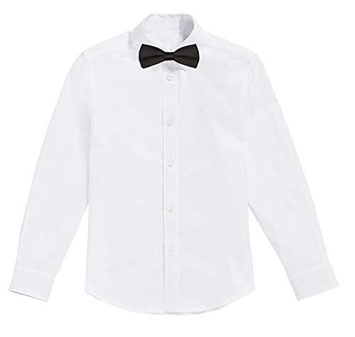 Classic - Weißes Jungen Hemd mit Fliege, 2 Jahre / Größe 98, Weiß -