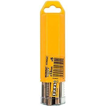 Argent Set de 10 Pi/èces 2 x 49 x 24 mm Dewalt DT4918-QZ Foret M/étal au Cobalt HSS-CO