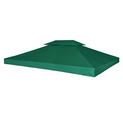vidaXL Toile Imperméable de Rechange pour Tonnelle 4x3 m Vert Bâche de Tente