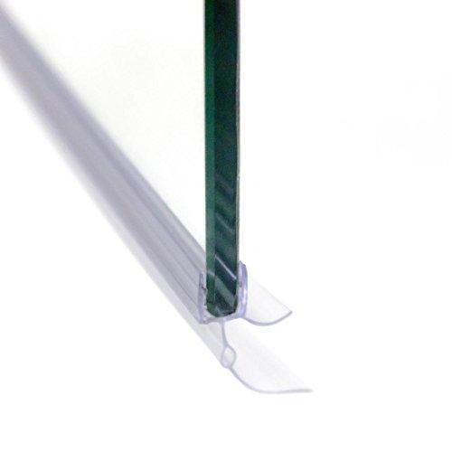 Homelux Badewannenaufsatz Badewannenfaltwand Faltduschwand (B x H) 120 x 140 cm, Sicherheitsglas 6 mm mit Lotuseffekt - 4