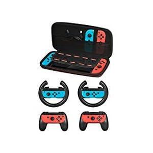 Zubehör Kit für Nintendo Schalter 5 in 1 Red/Blue AB-123
