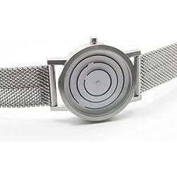 Project 8901GM-40 Unisex Silber Mesh Armband weißes Zifferblatt Free Time Watch
