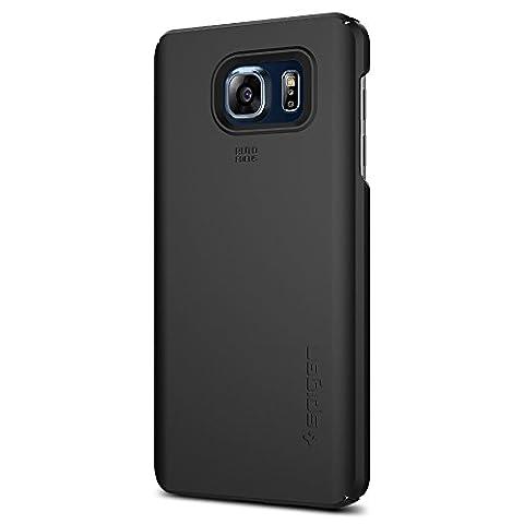 Spigen Schutzhülle für Galaxy Note 5 Hülle THIT FIT - passgenaues Premium-Case mit mattem Finish - Hard Case für Galaxy Note 5 - Tasche in schwarz [Black-