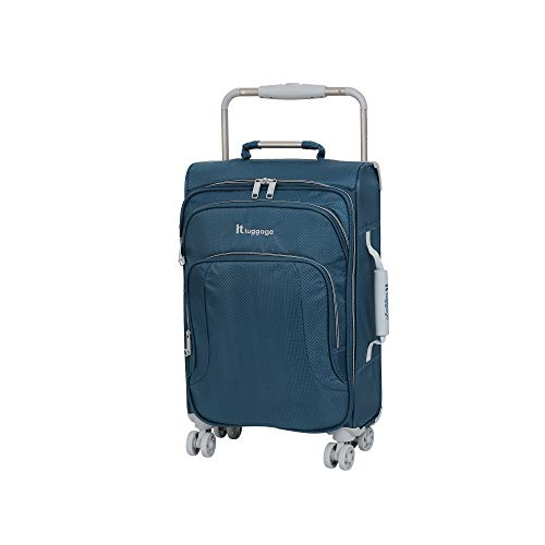 it luggage World's Lightest New York 8 Wheel Super Lightweight Suitcase Cabin Koffer, 56 cm, 35 liters, Blau (Blue Ashes)