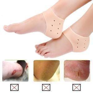 Basic Deal 1 Pair Original Heel Guard Gel Heel Protector - Relieve Heel Pain from Plantar Fasciitis - Heel Spur - Cracked Heels ONE PAIR