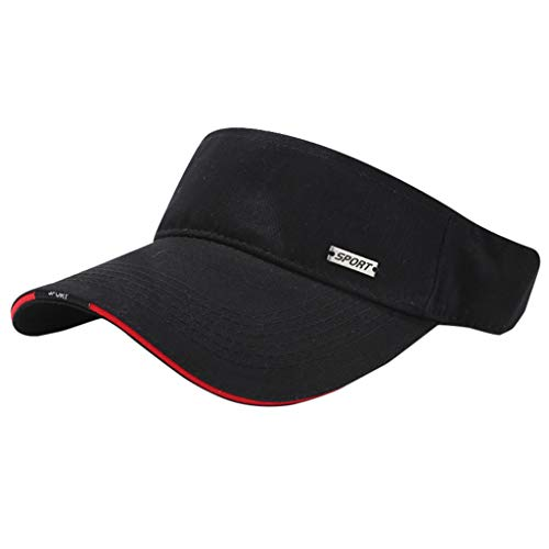 syeytx Leichtathletik Hut Outdoor Verstellbare Kappe Sommer Sonnenschutz Visier Leer Top Cap Solide Paar Kappe (Frauen, Hut Carhartt)