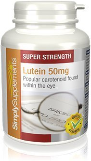Luteína 50 mg - 180 cápsulas - Hasta 6 meses de suministro - Contra el daño macular degenerativo - Para la salud de los ojos - SimplySupplements