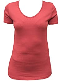 819a97ec033 Marks and Spencer Ladies Womens Pure Cotton V Neck Neck T-Shirt Many  Colours M&S