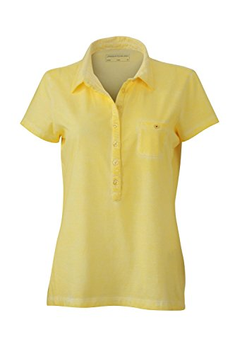 Maglietta polo trendy in look moderno Ladies' Gipsy Polo light-yellow