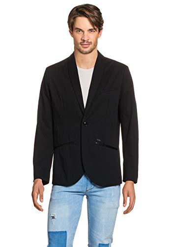 Pepe Jeans Herren Herren Sakko Blazer Jacke Jacket Wolle Lederoptik Business -