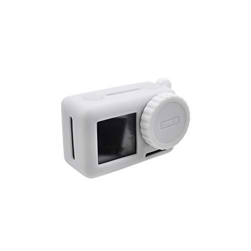 Jamicy® DJI OSMO Action Zubehör, Silikon Schutzhülle Schutzgehäuse Shell Cover Fall Kratzfest Langlebig Silikagel Case mit Lanyard für DJI OSMO Action Kamera Protective (Weiß)