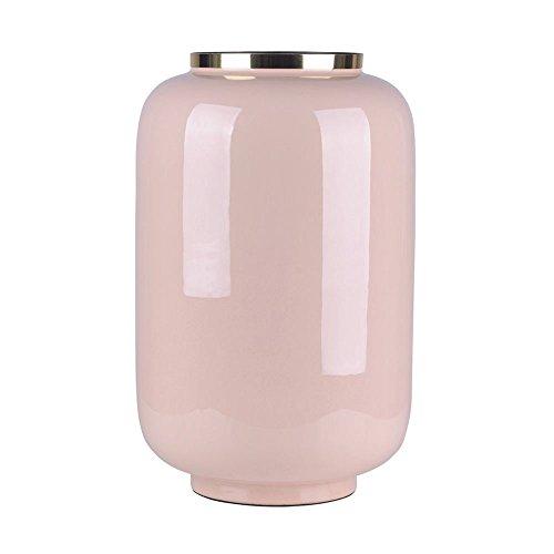 Gift Company - Saigon - Vase mit Metallring - Blush/Gold - Größe L - 23x40x23,5cm (Blush Vase)