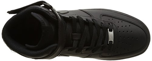 Nike Air Force 1 Mid '07, Scarpe da Basket Uomo Nero (Black/Black)