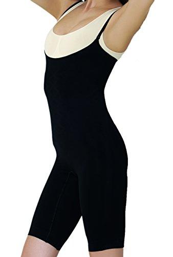 UnsichtBra Damen Shapewear Bauch Weg Bodysuit, Body Shape Bauchweg Unterwäsche mit Korsett - Funktion (sw_2100) (XL (48-54), Schwarz) -