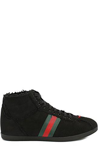 Gucci Homme 429596BND601080 Noir Cuir Baskets Montantes
