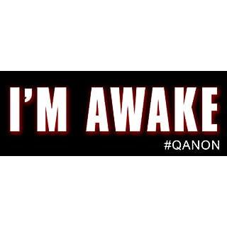American Vinyl I'm Awake Bumper Aufkleber (# qanon q Anon Trump Hashtag Awakening)
