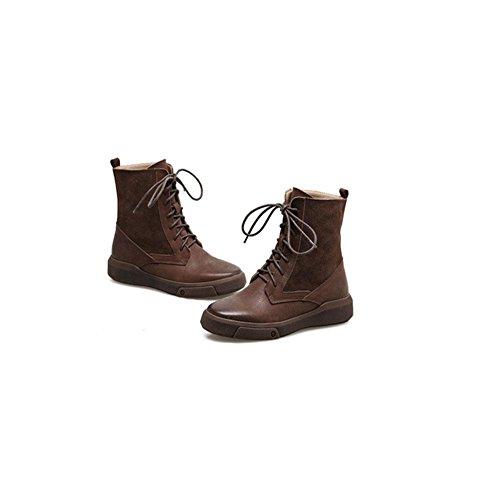 Caldi stivali casual da donna Freddo antiscivolo Scarpe da trekking invernali 44