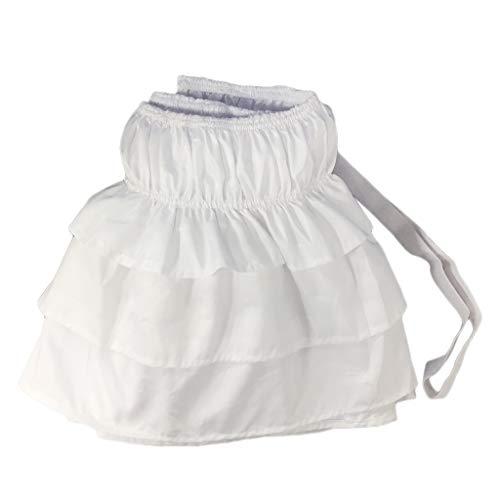 B blesiya gonna per letto in poliestere mantovane giroletto decorazione da camera da letto - bianco-150x200 cm (regina)