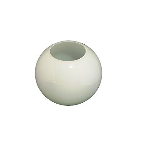 12.5cm diamètre Verre Blanc Sphériques Abat-jour avec aucun collier. Circonférence: 39cm, Trou: 7.0cm dia. [éclairage lumière ballon rond sphère remplacement lustre globe]