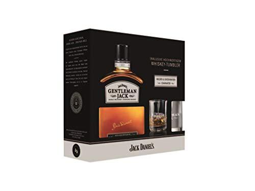 1 Geschenkbox Gentleman Jack a 0,7L inclusive Whisky Tumbler (40% Vol)