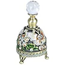 Art Deco Home - Botella Perfume Decorada Mariposa 7 cm - 14979SG