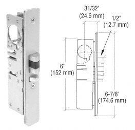 Deadlatch Lock (C.R. LAURENCE DL2140ARH CRL 31/32 Backset Narrow Stile Right Hand Deadlatch Lock by C.R. Laurence)