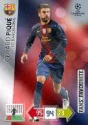 Champions League Adrenalyn XL 2012//2013 Gerard Pique 12//13 Fans Favourite Toy