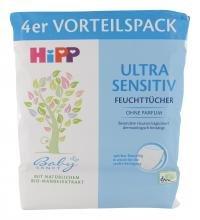 Hipp Babysanft Feuchttücher Ultra Sensitiv, 4x52 Tücher