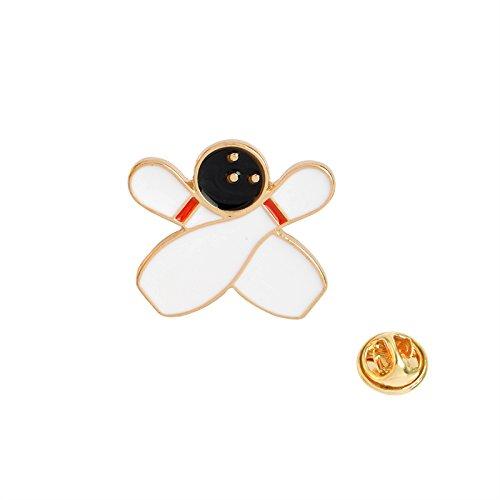 LFDHZ Bow and Arrow Bowling Badminton Pin Set Hartemaille Anstecknadeln Abzeichen Broschen Jeans Hüte Accessoires Modeschmuck Bowling