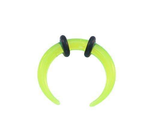Vault 101 Limited Grün Acryl Ohr oder Septum Gedehnt Pincher Bänder Buffalo Bull Horn Gekrümmter Bänder - 2mm