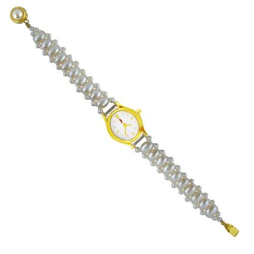 Sri Jagdamba Pearls White Pearl Watch For Women image