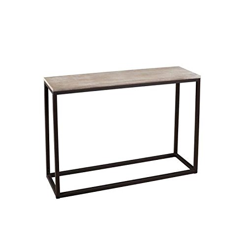 MACABANE Nomades Design 719011 Console rectangulaire Bois/Métal 35 x 110 x 82 cm