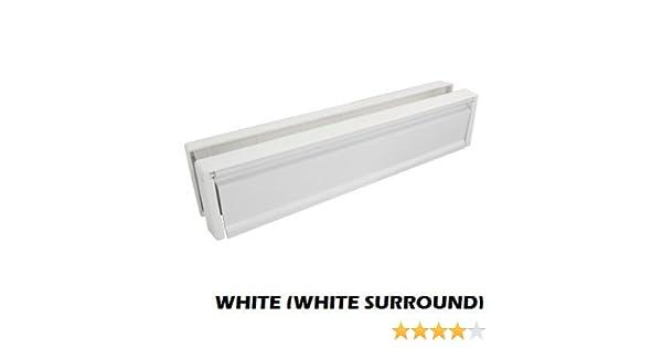 Entr/ée de lettres - blanc largeur env PVC rigide 30 cm 12 /épaisseur de porte 20-40 mm