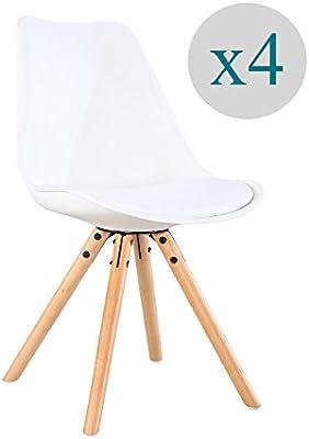 Aryana Home - Pack De 4 Silla nórdica Nordic (tower eame réplica)