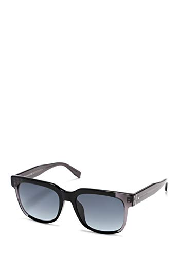 Hugo Boss - BOSS 0755/F/S ASIAN FIT, Wayfarer, Acetat, Herrenbrillen, BLACK SHADED GREY/GREY SHADED(K8F/HD), 55/19/145