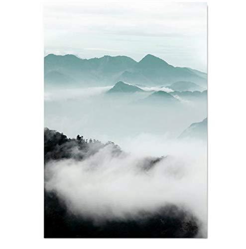 XCBH Kunstdruck Landschaftswandkunst-Leinwand-Plakat-Druck, Der Dekoratives Bild-Wohnzimmer-Dekoration Malt (Leinwand Malt)