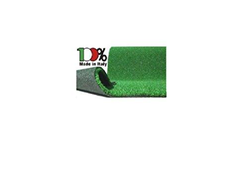 GRG Prato Sintetico 7mm Rotolo da 1m ed Altezza 1m, Vendita al Metro Quadro in Rotolo da 1 a 25m, in Polipropilene di Alta qualità, drenante, 100% Made in Italy.