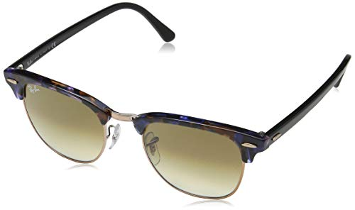 Ray-Ban Herren 0RB3016 Sonnenbrille, Blau (Spotted Brown/Blue), 49