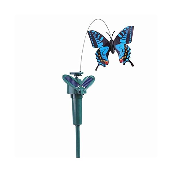 Solar Fluttering Hummingbird,Dual (Solar/Battery) Power Fluttering Flying Dancing Bird, Outdoor or Indoor, Solar Powered or Battery Powered Garden Decoration 1
