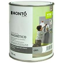 Pintura Magnética Color Gris Repintable HTM Montó 750 ml. Facil de Aplicar.