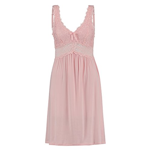Hunkemöller Damen Slipdress Modal Lace Rose S130231