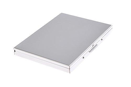 Quantum Abacus Zigarettenetui aus hochwertigem Stahl, im Stil der 20er Jahre, für 9 Zigaretten, Mod. 808-06 (DE) -