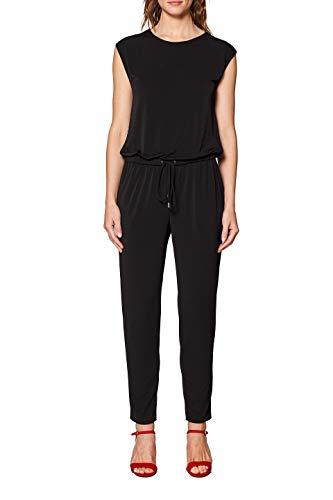ESPRIT Damen 049EE1L009 Jumpsuit, Schwarz (Black 001), Small (Herstellergröße: S)