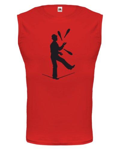 Kostüm Jongleur - Tank Top Zirkusjongleur-XXL-Red-Black
