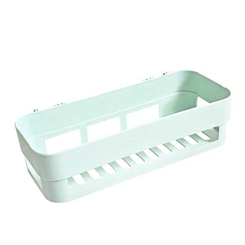 VECDY Kunststoff-Saugnapf Badezimmer Küche Ecke Lagerregal Organizer Dusche Regal Badezimmerregal Ontage Ohne Bohren und Schrauben -